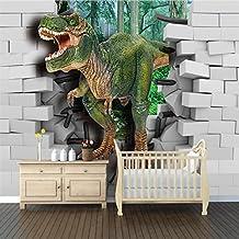 WTD–Papel pintado fotográfico Papel pintado Póster 3d dinosaurios pared papel pintado de KN de 1080, XXL 400x280 cm 8-Bahnen