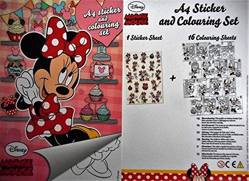 Minnie Maus Daisy Malbuch 12 Seiten & 1 Bogen Sticker A 4 Disney Deko GAC B86