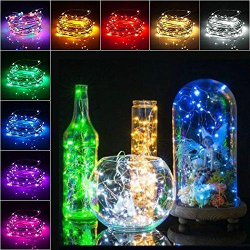 icht Lichterketten Weinflaschen Lichter Korken 1m/ 1,5m/ 2m Stimmungslichter LED Lichter für Party, Hochzeit, Weihnachten, Halloween, Beleuchtung Deko (Blau, 1.5m) ()