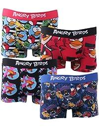 Boxers enfant lot de 4 Angry Birds