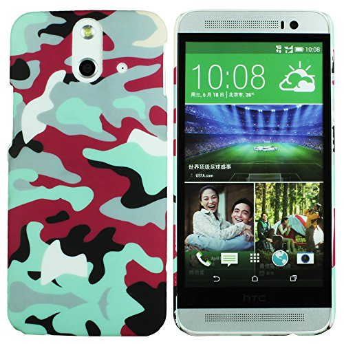 Heartly Army Style Retro Color Armor Hybrid Hard Bumper Back Case Cover For HTC One E8 Dual Sim - Hot Red  available at amazon for Rs.220