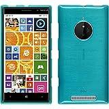 Funda de silicona para Nokia Lumia 830 - brushed azul - Cover PhoneNatic Cubierta + protector de pantalla