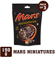 Mars Chocolate Miniatures Gift Pack, 150g (Pack of 3)