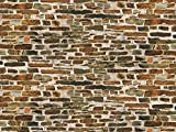 Auhagen 50.115,0 - pared de piedra caliza de papel decorativo, 220 x 100 mm, colorido