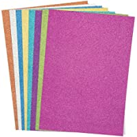 Baker Ross Glitter A4 Card (Pack of 16) For Kids To Decorate, Arts and Crafts