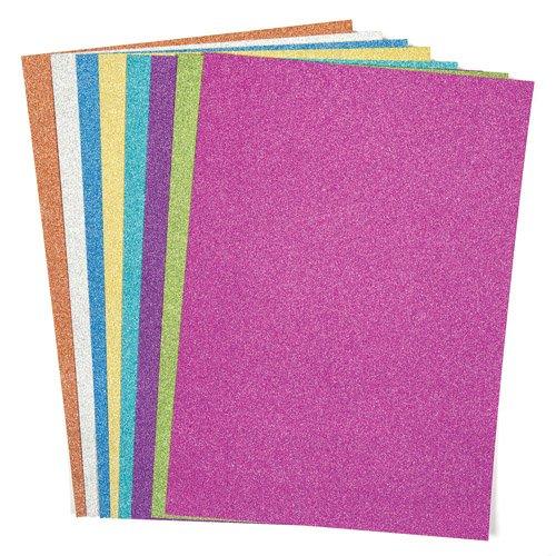 Baker Ross Papier cartonné pailleté au Format A4 (Lot de 16) - Matériel créatifs pour Enfants et Adultes