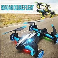 WZG Drone Con Telecamera Air-Ground Droni Flying Car RC Auto Dalla Terra e Dall'Aria Dual Mode 2,4 GHz 6 Assi Helicóptero Del Giroscopio Con Videocamera HD, blue