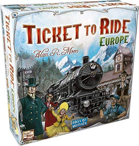 Royals Hub® Gift Ticket to Ride Europe Family Entertainment Board Game, Multicolor