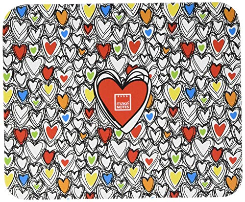 Preisvergleich Produktbild MAKENOTES BR017 Mouse Pad - Colorful Hearts - Collection