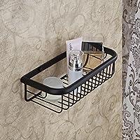Hiendure® 30cm Ottone montaggio a parete mensola cestino bagno cucina stoccaggio doccia, Bronzo lucidato