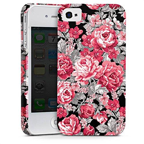 Apple iPhone X Silikon Hülle Case Schutzhülle Blumen Bunt blumenmuster Premium Case glänzend