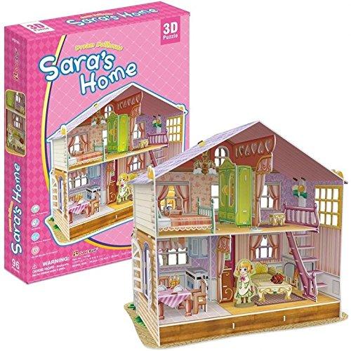 Cubicfun p678h - 3d puzzle la casa delle bambole la casa di sara 4 stanze