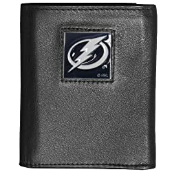 NHL Tampa Bay Lightning Genuine Leather Tri-Fold Wallet