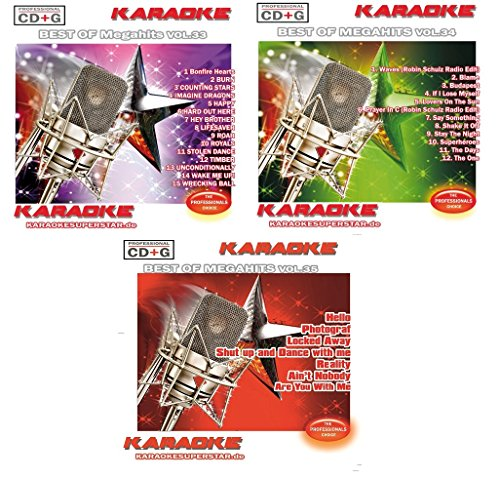 Megahits Set - 3 CD+Gs im Set - Best of Megahits Vol. 33, Vol. 34 und Vol. 35