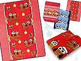 Weihnachtliche Microfaser-Kuscheldecken - wärmend-weiche Wohndekoration in winterlichem Design in der Größe 150 x 200 cm, Eulen - Weihnachtsbaum