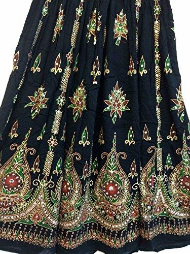 Atemberaubende Damen Indische Boho Hippie Zigeuner Sequin Sommer Sommerkleid Maxi Rock M L ()