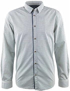 Tom Tailor Hemd weiß gemustert