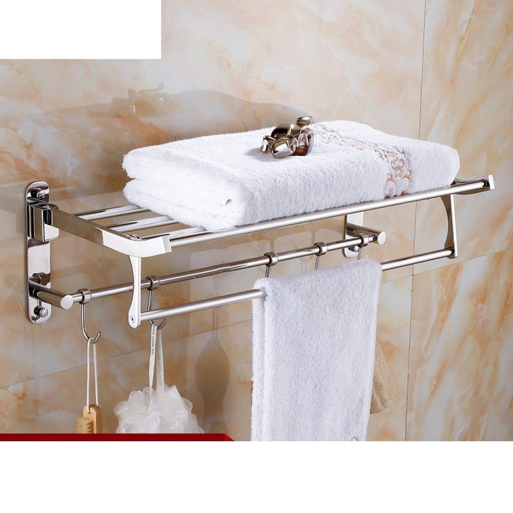 In acciaio inox porta asciugamani pieghevole/La cremagliera di tovagliolo bagno/ bagno Scaffali pens