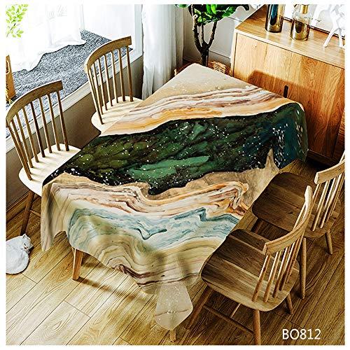 QWEASDZX Waschtischdecke Einfache und Moderne Polyester-Antifouling-Tischdecke Ölbeständig Rechteckige Tischdecke Geeignet für Innen- und Außenbereich Waschbare Anti-Fleck-Tischdecke 150x260cm