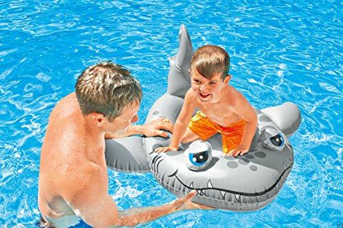 Kinderboot Boot Gummiboot Schlauchboot für Pool Schwimmbad Pool Cruiser (Hai Fisch) -
