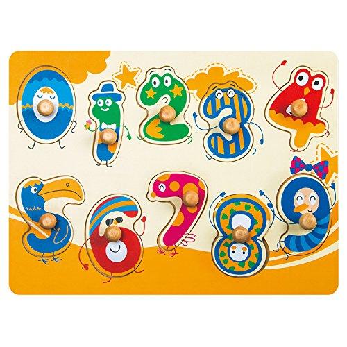 Robotime Puzzle Peg en bois - Voir les numéros dans le...