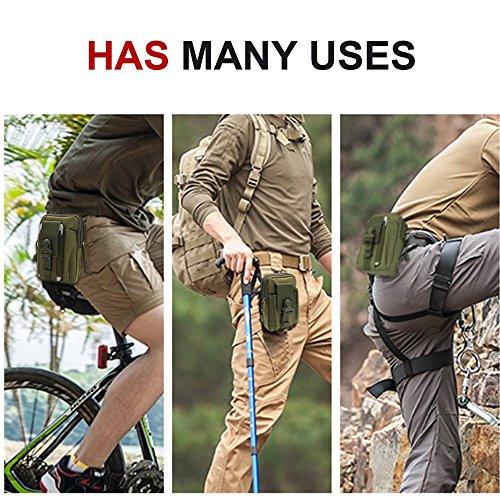 lu2000Kompaktes EDC Pouch Utility Gadget Pouch, Universal Casual Outdoor Gear, der Kit Kapazität Werkzeug Gürtel Taille Pack, Tactical Rucksack für Laufen Radfahren Wandern Camping Dschungel-Camouflage