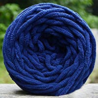 Bluelans® 100% Acrylic Soft Chunky Yarn Knitting Wool 100g, available in 17 colours (Dark Blue)