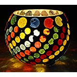 Home Decor Handmade Mosaic Glass Candle Holder 3 Inch