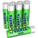 Varta SOLAR - Pack de 8 pilas AAA recargables (NiMH, 550 mAh)