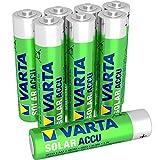Varta ACCU SOLAR Batteria Ricaricabile, Ministilo AAA 550 mAh, Confezione da 8 Pezzi
