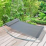 Transat chaise longue double bascule arizona violet jardin - Transat double a bascule ...
