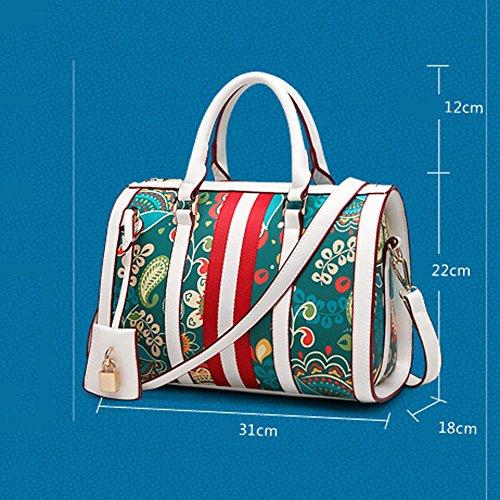 Multicolore Ruiren per a Borsa Tracolla Borsa Multicolore Tracolla Donna Ruiren Bianca a F6d4nqwB