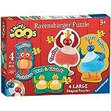 Ravensburger Twirlywoos 4 Shaped Jigsaw Puzzles (10,12,14,16pc)