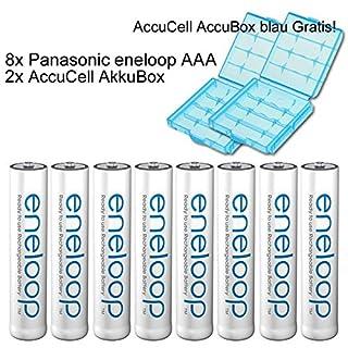 Sanyo eneloop HR-4UTGB Case AAA Micro-Akku 8er Pack mit 2x eneloop Case blau