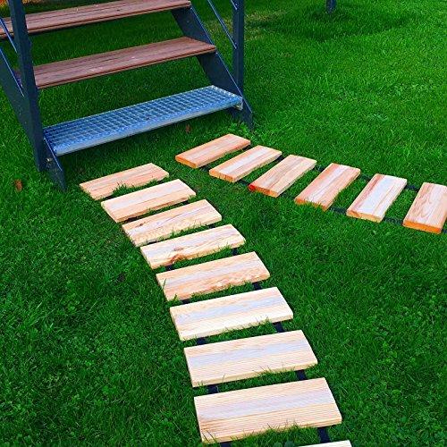 BOOGARDI Rollweg ( Breite: 35 cm / Länge: 250 cm · Rollbarer Gartenweg aus robuster Kiefer in 2 Größen als Laufsteg für Garten und Beet