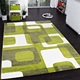 Alfombra Habitación Infantil Retro De Moda Alfombra Infantil En Verde Gris Crema, Grösse:60x100 cm