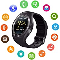 Virgingizmo Soft TPU Y1X 1.4 inch Round Color Screen Heart Rate Monitor Pedometer Men's Fitness Tracker Smartwatch (Android App Available)