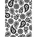 Darice 1219-412 Embossing Folder-Classeur de Gaufrage-Modèle Motif Cachemire Floral-10,8 x 14,6 cm, Plastique, Transparent, 1