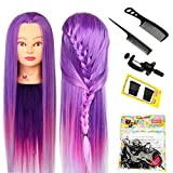 Neverland Beauty 26 Zoll 100% Kunstfaser Haar Hairdressing Übungskopf Gliederpuppe Kopf mit Clamp + Hair Styling Tool