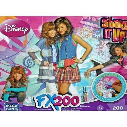 Disney Shake It Up! Fx200 Puzzle with Foil Stickers by Mega ()