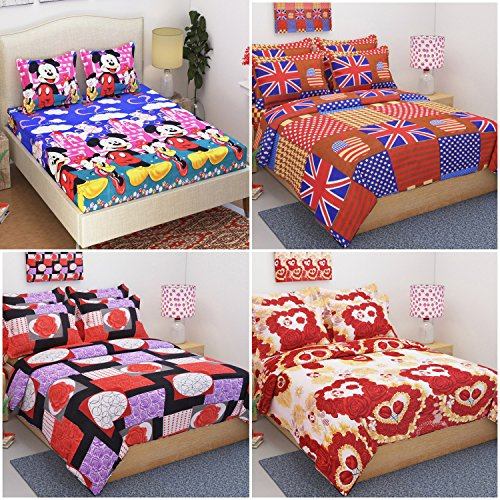 9950aed971 60% OFF on WI International 3D Printed Double Bedsheets Set of 4 (4 Bed  Sheets with 8 Pillow Covers) on Amazon   PaisaWapas.com