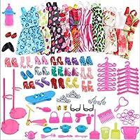 60 piezas de accesorios de ropa de muñecas juerga para muñeca Barbie (Aleatorio)
