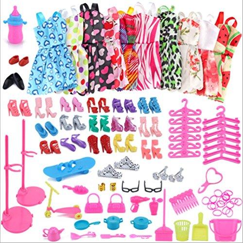 60 piezas accesorios ropa muñecas juerga muñeca