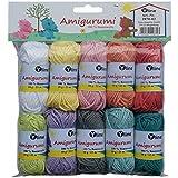 Sortiment Amigurumi Wolle 10 Knäuel a. 10g, 100% Baumwolle, Garn, Strickwolle, Häkelgarn, 2870-02