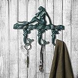 cinoton Schlüssel Haken Vintage-Schlüssel-Halter Metall Aufbewahrung Haken Meerjungfrau-Türkis