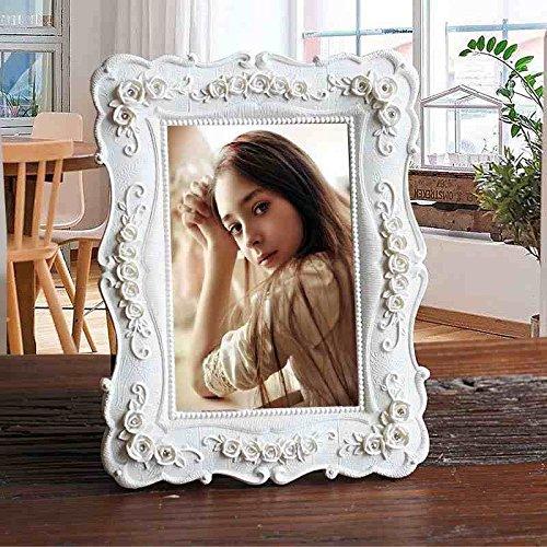 Shabby Chic Bilderrahmen French Vintage Retro Bild der Hochzeit, Best Geschenk und Home Dekoration, Weiß, 8