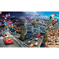 Carta da parati Disney Pixar Cars World, Premium carta 115 gsm, XXL - 368 cm x 254 cm (L x A) - Disney World Photo