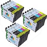 GUCOCO Hohe Kapazität 15 Multipack Packung Epson 18 18XL Kompatible Tintenpatrone für Epson Expression Home XP-322 XP-412 XP-305 XP-312 XP-405 XP-425 XP-325 XP-202 XP-415 Drucker