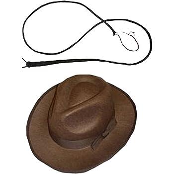 EXPLORER SET 1 x marrone feltro da mafioso anni cappello 1 x in pelle BULL  frustino 5ab6c21c6462