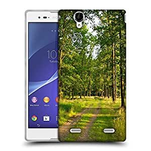 Snoogg Greeny Forest Designer Protective Phone Back Case Cover For Sony Xperia T2 Ultra